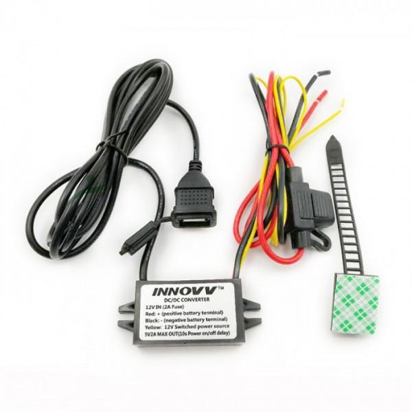 12V/5V USB menič napätia